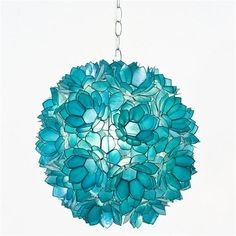 Funky tourquiose chandelier by ruby