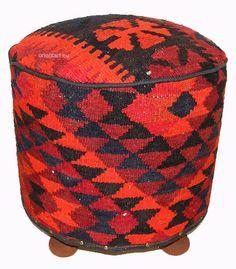 orientalisch Kelim Hocker Fußhocker Sitzhocker Sitzkissen Kilim cushion Stool  D