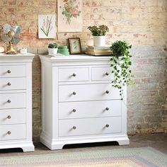 Chantilly White 2 3 Drawer Chest