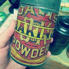 Baking powder should always be packaged like this.  #typehunter #typehunting #badgehunting