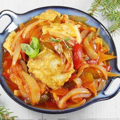 Ryba po japońsku | AniaGotuje.pl Vegan Ramen, Ramen Noodles, Fish Dishes, Fish And Seafood, Fish Recipes, Paella, Thai Red Curry, Food And Drink, Dinner