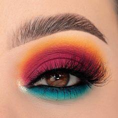 Edgy Makeup, Makeup Eye Looks, Eye Makeup Steps, Eye Makeup Art, Smokey Eye Makeup, Cute Makeup, Eyeshadow Looks, Eyeshadow Makeup, Disney Eye Makeup