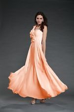 Sexy Flowered Chiffon Maxi Evening/Party/Prom Women Wedding Dress Dresses