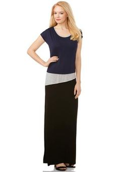 Cato Fashions Triple Layer T-Shirt Maxi Dress-Plus #CatoFashions