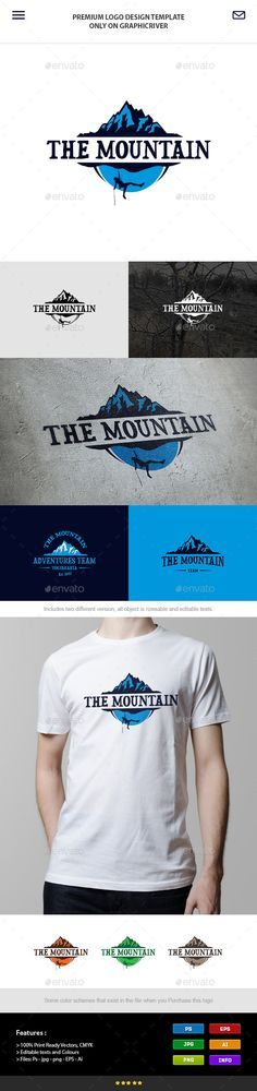 Climbing the Mountain - Logo Design Template Vector #logotype Download it here: http://graphicriver.net/item/climbing-the-mountain/6183054?s_rank=169?ref=nexion