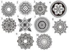 mandala circle tattoos