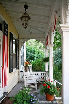 A Favorite Outdoor Space Patriotic Victorian Farmhouse Front Porch