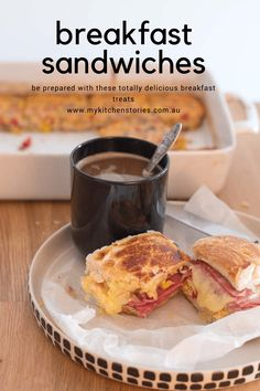 Make a pan of veggie-loaded eggs and wrap up these easy breakfast sandwiches and stick them in the freezer for the next time you need a breakfast-on-the-go or you have a crowd to feed. Breakfast Sandwiches, Breakfast Recipes, Lunch Meal Prep, Breakfast On The Go, Food For A Crowd, Quick Easy Meals, Brunch, Kitchen Stories, Arugula