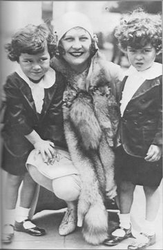 Actress (and second wife of Charlie Chaplin) Lita Grey with her two sons: Charles Chaplin, Jr. and Sydney Earle Chaplin