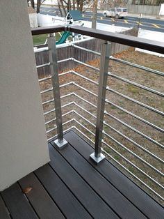 Building A House Discover Modern Square Stairs Balcony Hand Rail Staircase Railing Kit - Aluminium Modern Square Stairs Balcony Hand Rail Staircase Railing Kit Porch Handrails, Metal Deck Railing, Patio Railing, Balcony Railing Design, Staircase Railings, Staircase Design, Stairs, Railing Ideas, Glass Balcony Railing