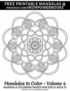Mandala Colouring Page For FREE