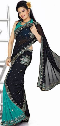 #Designer black #Party #Wear #Saree Design | @ $114.65