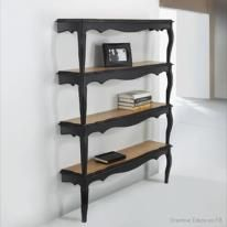 Bookshelf: use slabs from the lumber yard and tree limbs from the forest.