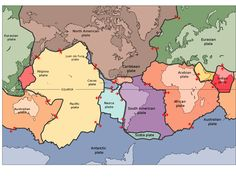 Map of Earth's tectonic plates