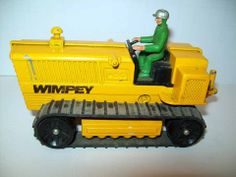 LONE STAR BULLDOZER TRACTOR WIMPEY MADE IN ENGLAND VINTAGE DIE-CAST
