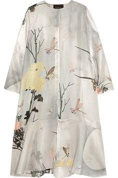Biyan|Aunne printed silk-organza dress|NET-A-PORTER.COM