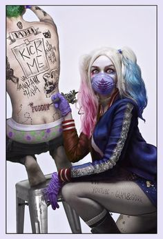 Suicide Squad | Harley Quinn (Margot Robbie) tattoos' Joker (Jared Leto)