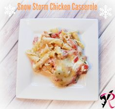 Snow Storm Chicken Casserole Recipe & Northpoint Cashmere Plush Velvet Throw Giveaway!!
