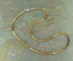 Shaded Garnet, Hessonite.All natural, undyed and untreated semi-precious gemstones // Grizzly Meadows Jewelry