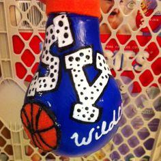 VALLEY LIGHTBULB ORNAMENT #sports #basketball