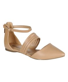 Look at this Natural Diane Multi-Strap Flat on #zulily today!