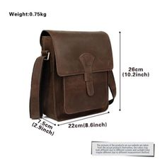 Men's Rustic Genuine Leather Messenger Shoulder Bag Small Cross Body Satchel New