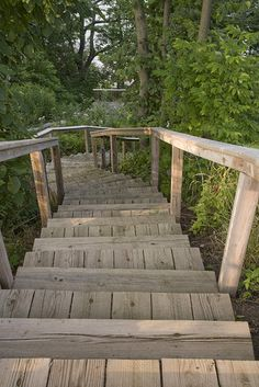 Beach Access -- really charming idea to do on a steeply sloped backyard area with denser vegetation (like our soon-to-be backyard). I wonder how these steps would weather PGH winters.