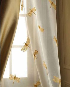 Embroidered Sheer Curtains - We are one of the most reputed organization of embroidered sheer curtains in the very competitive market. Our curtains are made by using very remarkable and premium quality raw material. These curtains Dragonfly Inn, Dragonfly Decor, Dragonfly Jewelry, My New Room, My Room, Under Your Spell, Sheer Curtains, Drapery, Mellow Yellow