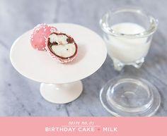 Ooooh...Birthday Cake + Milk truffles!