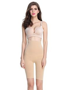 8a405d5434 Shymay Womens Long Leg Shaper Seamless Tummy Control Hiwaist Thigh Slimmer  Nude TAG SIZE 2XLUS SIZE