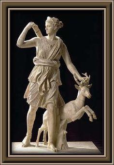 Artemisa en Grecia / Diana para los romanos La diosa de la caza.
