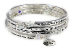 4030561 The Lord's Prayer Christian Stretch Bracelet Jesus Religious Christ B... * Tried it! Love it! Click the image. : jewellery