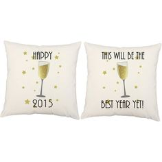 Happy New Year Pillows -ring in the new year in style!