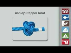 Knots for swings (stopper knot for under the platform swing) How to Tie the Ashley Stopper Knot