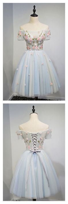 Off Shoulder Short Tulle Homecoming Dress,Short Dress,Cheap Dress,Party Dresses Pretty Homecoming Dresses,91001