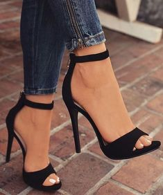 high heels – High Heels Daily Heels, stilettos and women's Shoes Black High Heels, High Heels Stilettos, Shoes Heels, Heeled Sandals, Black Wedges, Heel Boots, Classy Heels, High Sandals, Louboutin Shoes