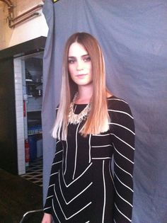 Backstage Model with Crystelle silver necklace