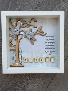 Box Frame Gift For A Sister Perfect Birthday Present
