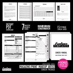 Freelance Makeup Artist Contracts Essential by freelancetemplates Makeup Artist Career, Makeup Artist Kit, Wedding Makeup Artist, Makeup Kit, Makeup Artistry, Dyi Makeup, Makeup Style, Makeup Ideas, Beauty Makeup