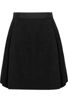 Lanvin  Double-faced stretch-wool felt bubble skirt