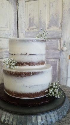 Naked Wedding Cake, Simple Wedding, Rustic Wedding, Boho Wedding, Wedding Trends, Simplistic Cake,