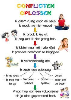 Posters voor kids :-D Coaching, Leader In Me, School Hacks, Primary School, Kids Education, Social Skills, Classroom Management, Kids And Parenting, Kids Learning