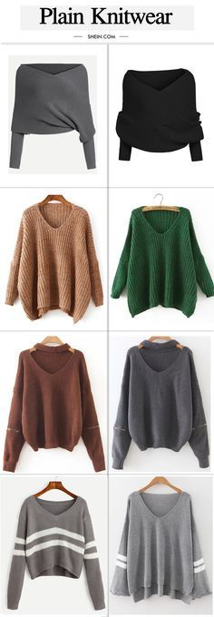 Cute plain sweater collection for fall/autumn.
