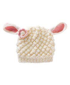Look at this #zulilyfind! White Lamb Beanie by Blossoms & Buds #zulilyfinds