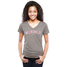 MIT Engineers Women's Classic Wordmark Tri-Blend V-Neck T-Shirt - Heather Gray - $29.99