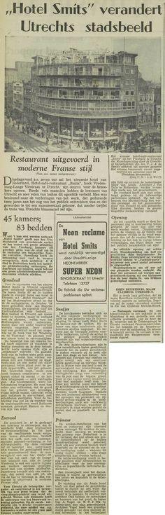 Het nieuwe Hotel Smits is een goede afsluiting van het Vredenburg. UN, 13 maart 1954, pagina 2