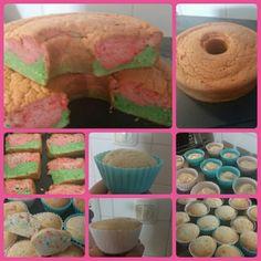 Spongecake  and funfetti cupcakes