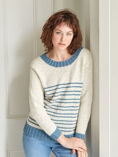 Riviera Striped Sweater | AllFreeKnitting.com