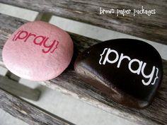 A prayer rock to put in your pocket.  Thinking of making something like this for my Sunday School class.