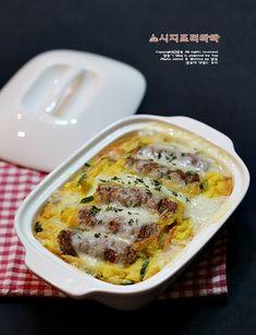 한끼식사로도 든든한 계란요리,,,소시지프리타타[소시지 요리]